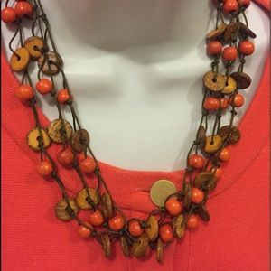 Hand made bead necklace